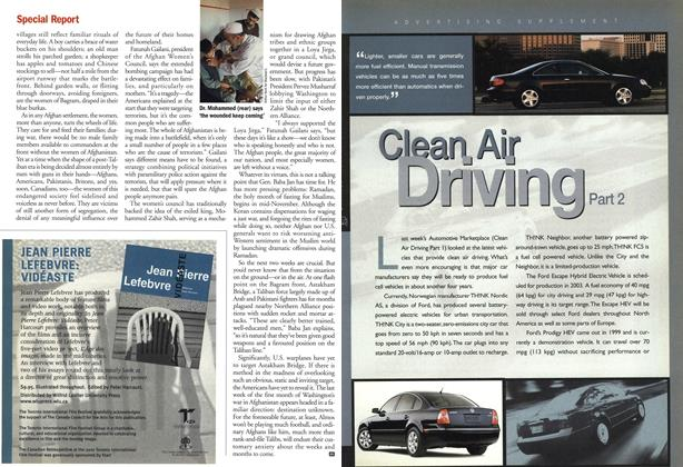 Article Preview: Clean Air Driving Part 2, November 2001 | Maclean's