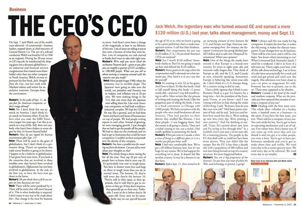 Article Preview: THE CEO'S CEO, November 2001 | Maclean's