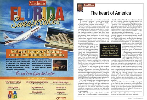 Article Preview: The heart of America, November 2001 | Maclean's