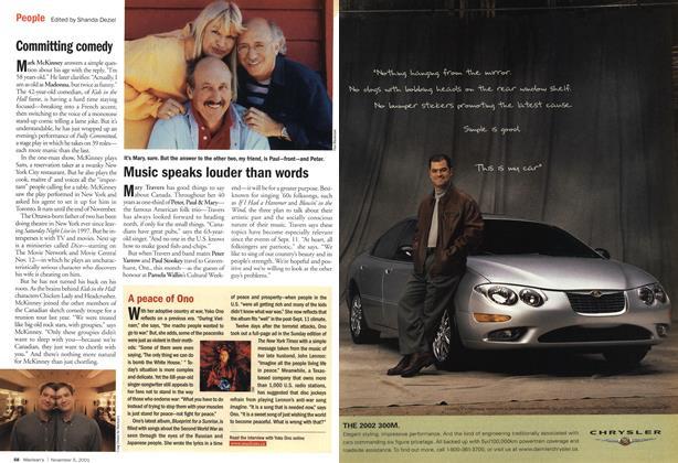 Article Preview: People, November 2001 | Maclean's