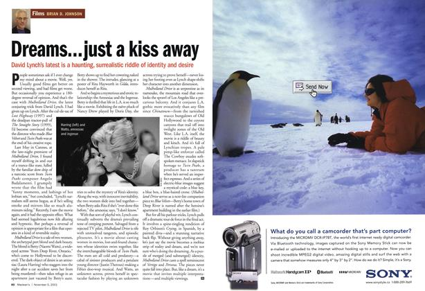 Article Preview: Dreams...just a kiss away, November 2001 | Maclean's