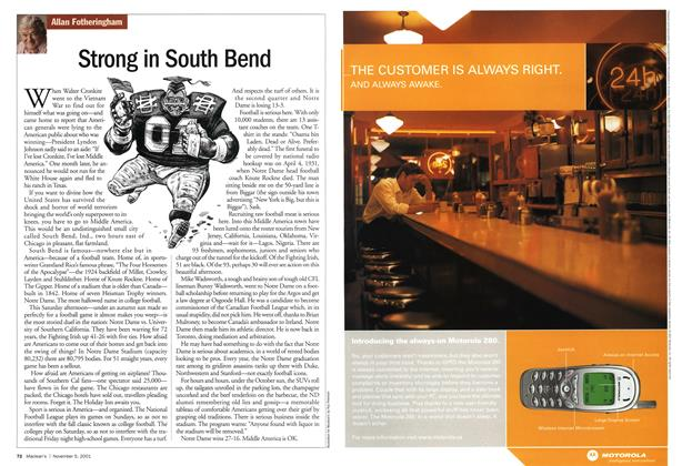 Article Preview: Strong in South Bend, November 2001   Maclean's