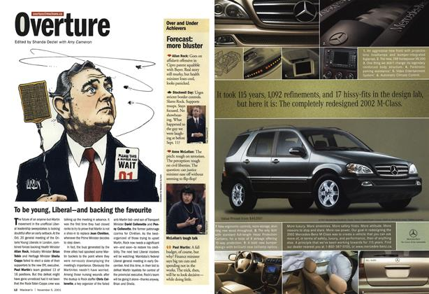 Article Preview: Overture, November 2001 | Maclean's
