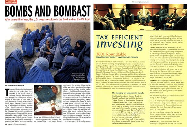 Article Preview: TAX EFFICIENT investing, November 2001 | Maclean's