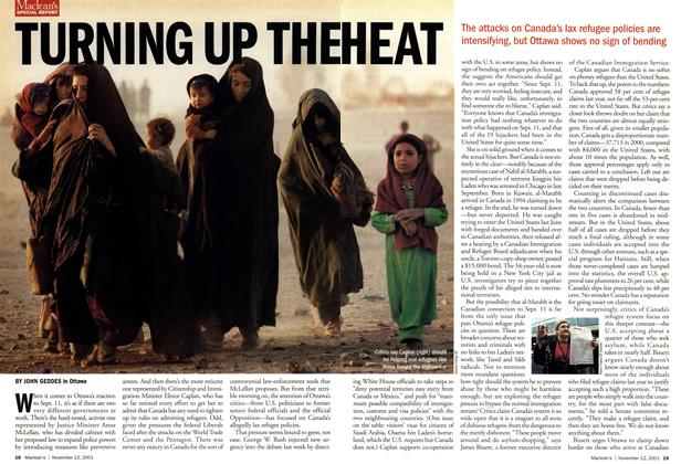 Article Preview: TURNING UP THE HEAT, November 2001 | Maclean's