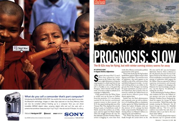 Article Preview: PROGNOSIS: SLOW, November 2001 | Maclean's