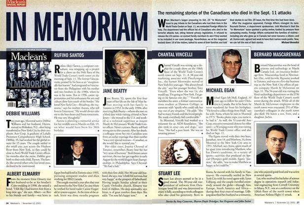 Article Preview: IN MEMORIAM, November 2001 | Maclean's