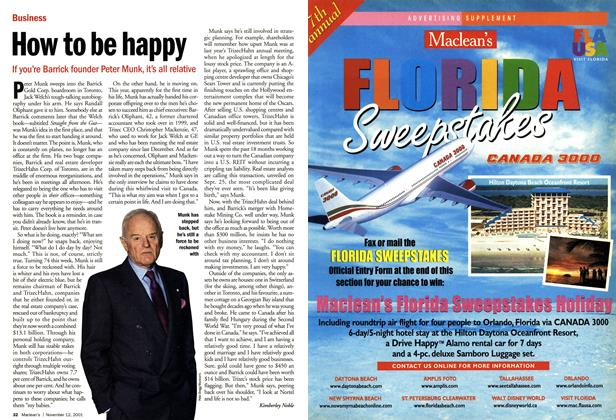 Article Preview: How to be happy, November 2001 | Maclean's