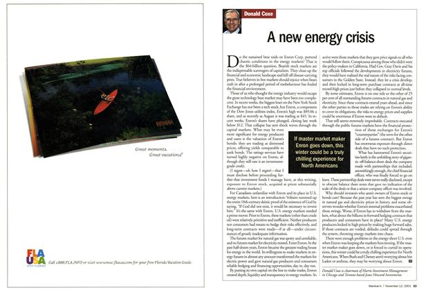 Article Preview: A new energy crisis, November 2001 | Maclean's