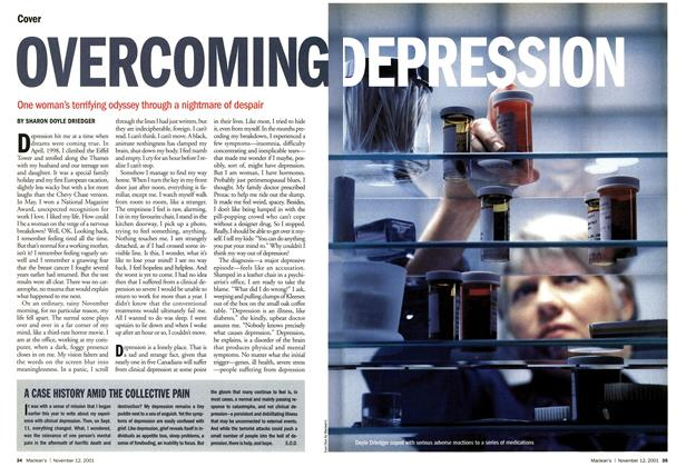 Article Preview: OVERCOMING DEPRESSION, November 2001 | Maclean's
