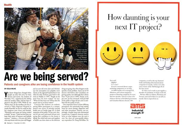 Article Preview: Are we being served?, November 2001 | Maclean's