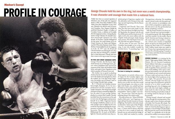 Article Preview: PROFILE IN COURAGE, November 2001 | Maclean's