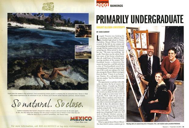 Article Preview: PRIMARILY UNDERGRADUATE, November 19,2001 2001 | Maclean's
