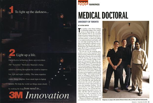 Article Preview: MEDICAL DOCTORAL, November 19,2001 2001 | Maclean's