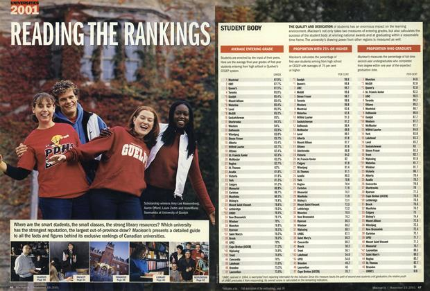 Article Preview: READING THE RANKING, November 19,2001 2001 | Maclean's