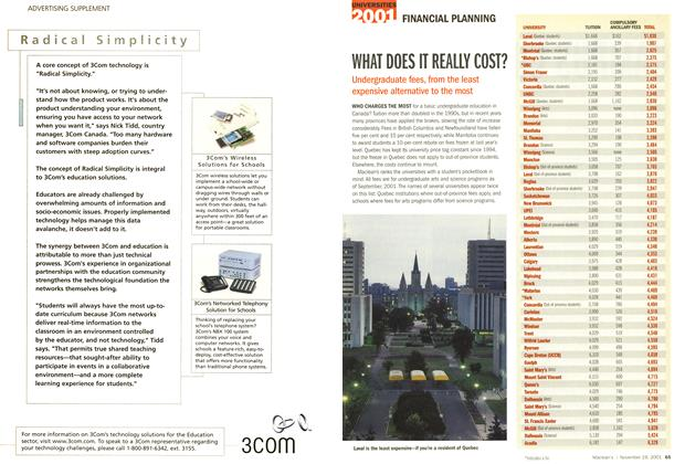 Article Preview: WHAT DOES IT REALLY COST?, November 19,2001 2001 | Maclean's