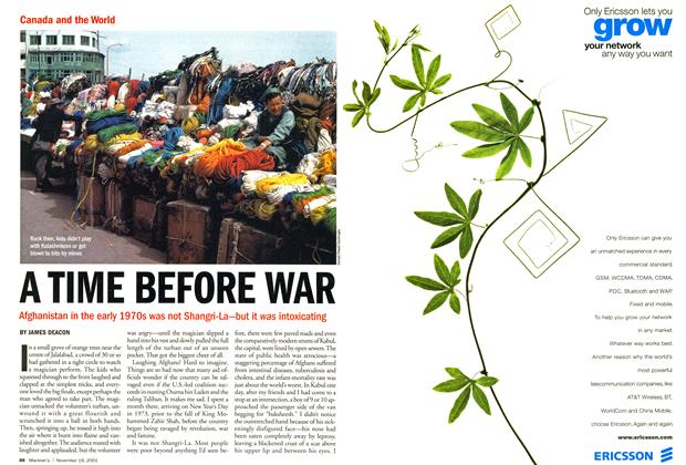 Article Preview: A TIME BEFORE WAR, November 19,2001 2001 | Maclean's