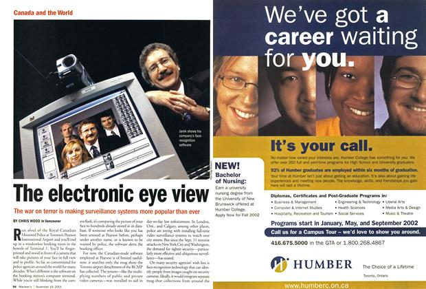 Article Preview: The electronic eye view, November 19,2001 2001 | Maclean's
