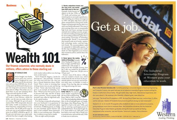 Article Preview: Wealth 101, November 19,2001 2001 | Maclean's