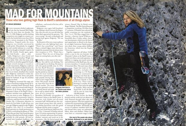 Article Preview: MAD FOR MOUNTAINS, November 19,2001 2001 | Maclean's
