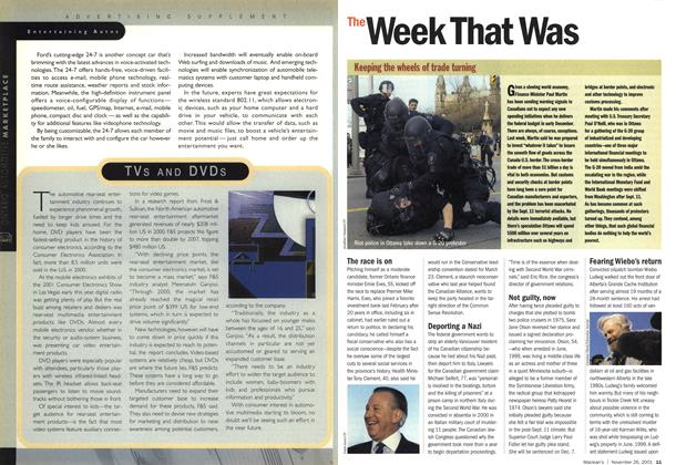 Article Preview: The Week That Was, November 2001 | Maclean's