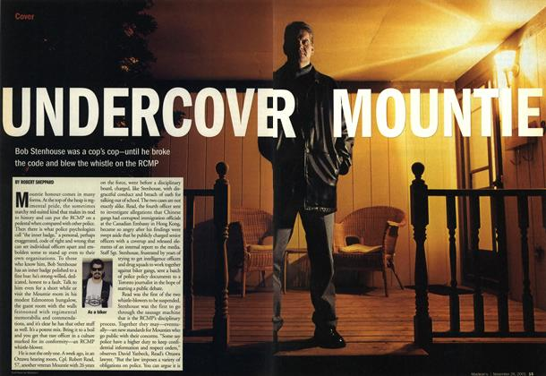 Article Preview: UNDERCOVER MOUNTIE, November 2001 | Maclean's