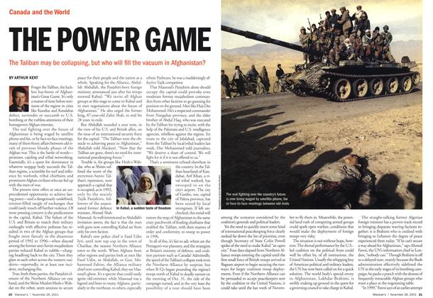 Article Preview: THE POWER GAME, November 2001 | Maclean's