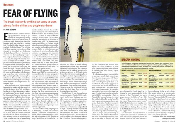 Article Preview: FEAR OF FLYING, November 2001 | Maclean's