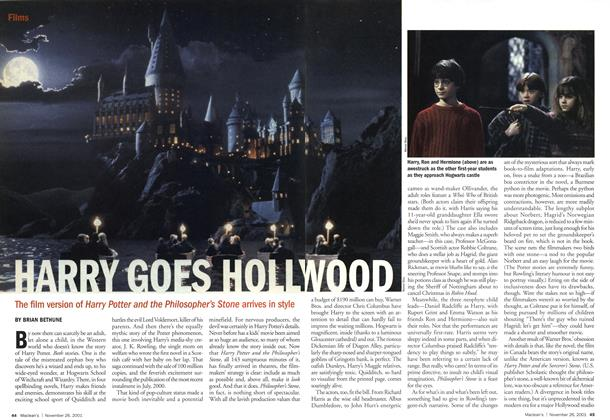 Article Preview: HARRY GOES HOLLYWOOD, November 2001 | Maclean's
