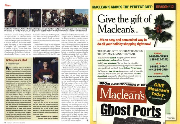 Article Preview: In the eyes of a child, November 2001 | Maclean's
