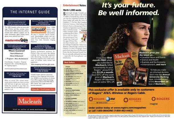 Article Preview: Best-Sellers, November 2001 | Maclean's