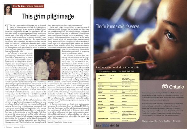 Article Preview: This grim pilgrimage, November 2001 | Maclean's