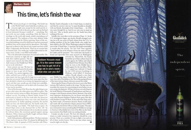 Article Preview: This time, let's finish the war, December 2001 | Maclean's