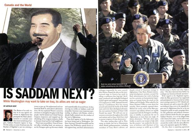 Article Preview: IS SADDAM NEXT?, December 2001 | Maclean's