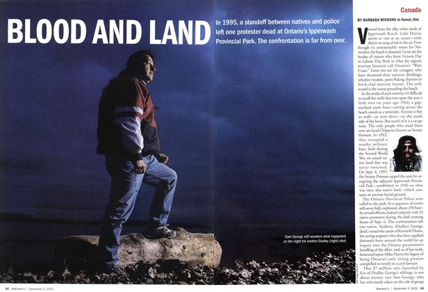 Article Preview: BLOOD AND LAND, December 2001 | Maclean's