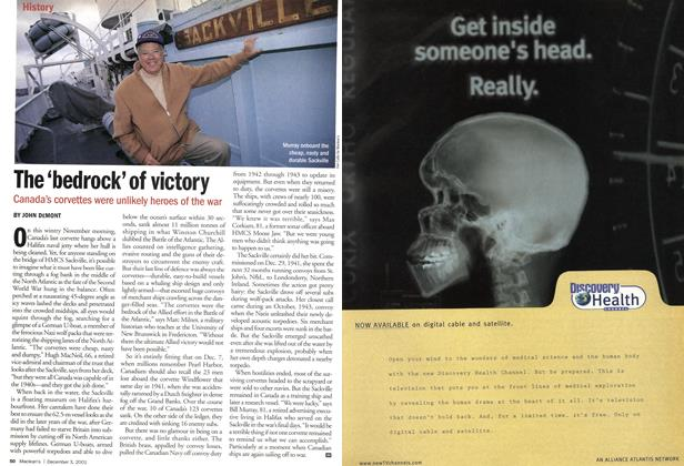 Article Preview: The 'bedrock' of victory, December 2001 | Maclean's