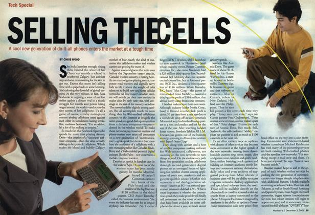 Article Preview: SELLING THE CELLS, December 2001 | Maclean's