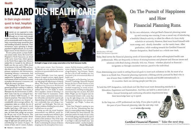 Article Preview: HAZARDOUS HEALTH CARE, December 2001 | Maclean's