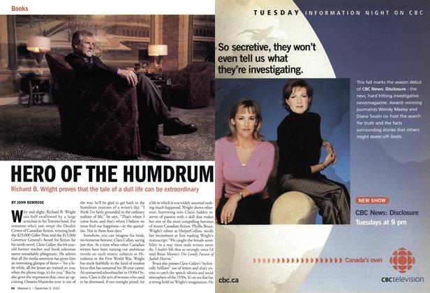 Article Preview: HERO OF THE HUMDRUM, December 2001 | Maclean's