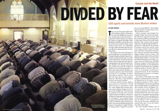 Article Preview: DIVDED BY FEAR, December 2001 | Maclean's