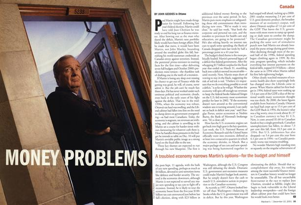 Article Preview: MONEY PROBLEMS, December 2001 | Maclean's