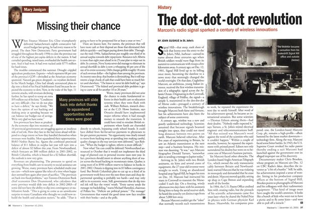 Article Preview: Missing their chance, December 2001 | Maclean's