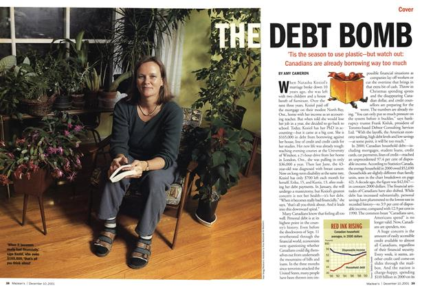 Article Preview: THE DEBT BOMB, December 2001 | Maclean's