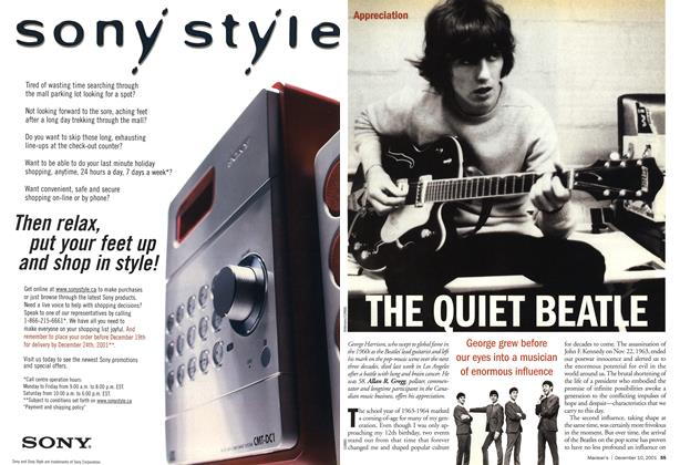 Article Preview: THE OUIET BEATLE, December 2001 | Maclean's
