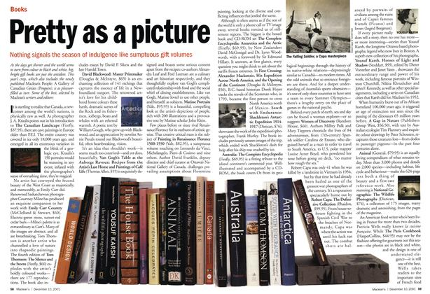 Article Preview: Pretty as a picture, December 2001 | Maclean's