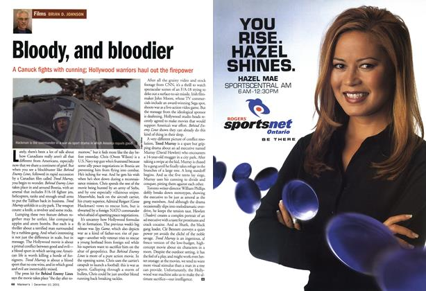 Article Preview: Bloody, and bloodier, December 2001 | Maclean's
