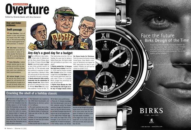 Article Preview: Overture, December 2001   Maclean's