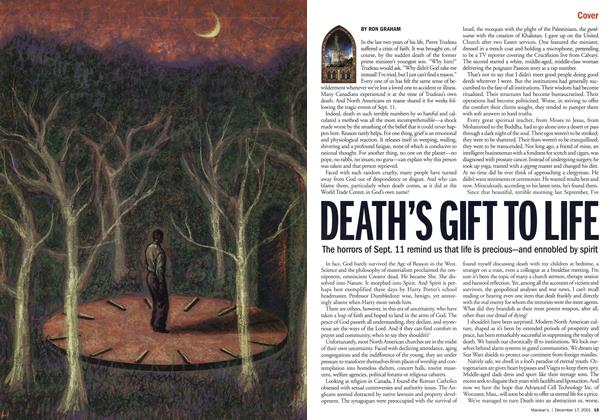 Article Preview: DEATH'S GIFT TO LIFE, December 2001 | Maclean's