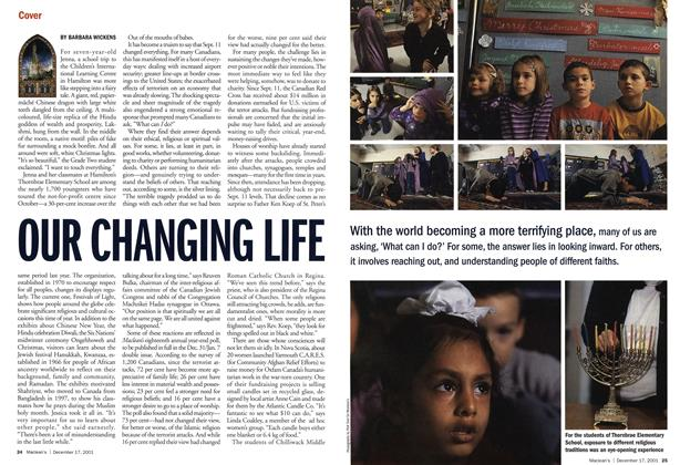 Article Preview: OUR CHANGING LIFE, December 2001 | Maclean's
