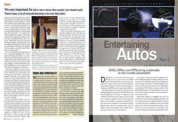 Article Preview: Entertaining Autos, December 2001 | Maclean's